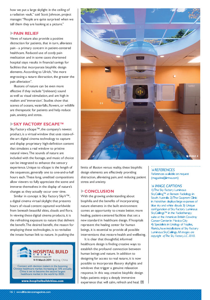 Hospital Build Magazine - Biophilic design article page 3