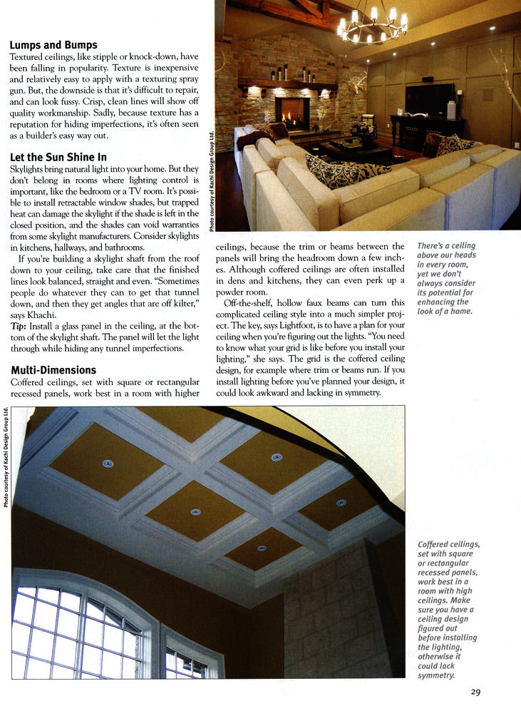 Homes and Cottages magazine - Look Up page 2
