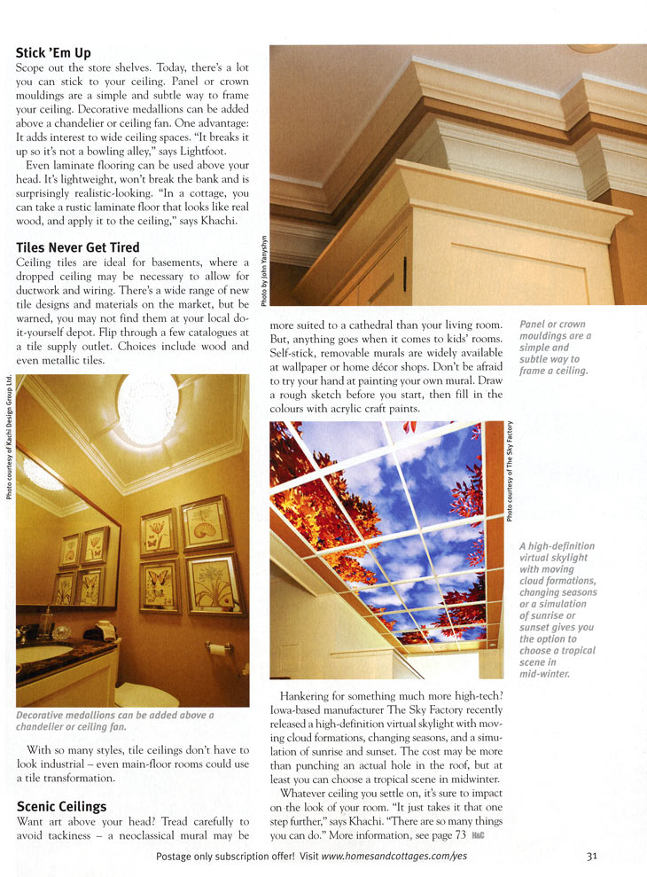 Homes and Cottages magazine - Look Up page 3